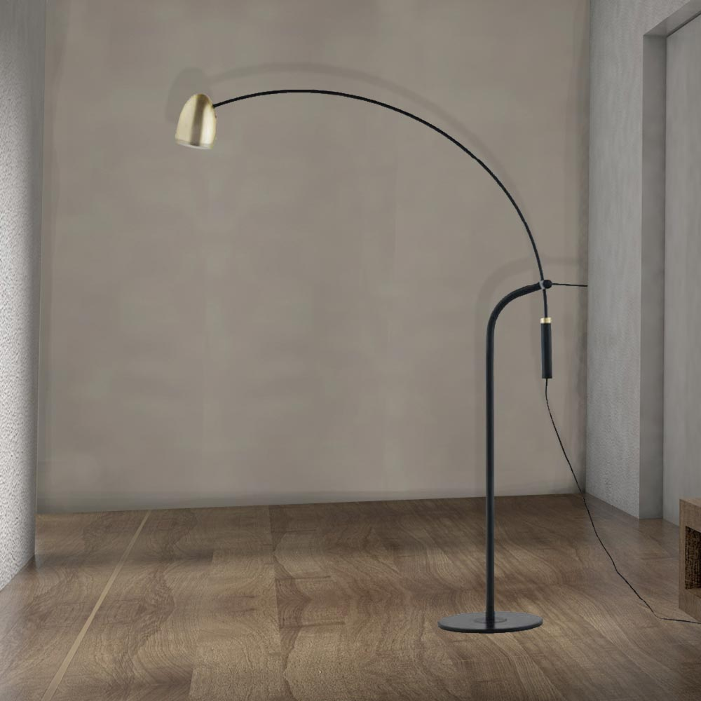 Black And Gold Arc Floor Lamp Cl 33986 E2 Contract