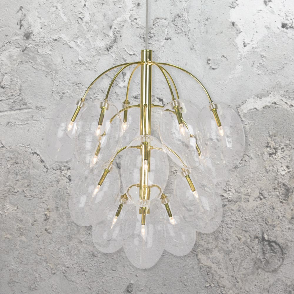 Brass 15 Light Chandelier