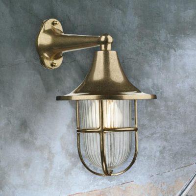 Brass Fisherman Nautical Wall Lantern