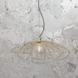 contemporary brushed brass pendant light
