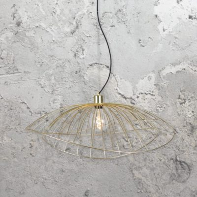 contemporarybrushed brass pendant light