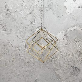 Brass Frame Pendant Light