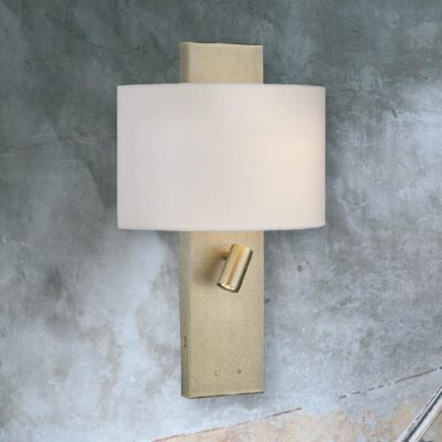 Brass Hotel Wall Light with usb