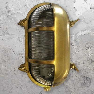 Exterior Brass Oval Eyelid Bulkhead Light