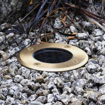 Brass Round Ground Light