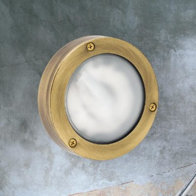 Brass Small Round Pathway Bulkhead