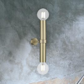 Satin Brass Up Down Wall Light