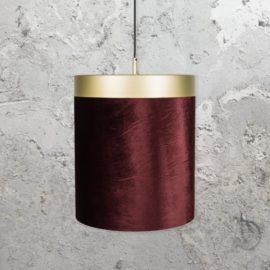 Brass Red Velvet Pendant Light
