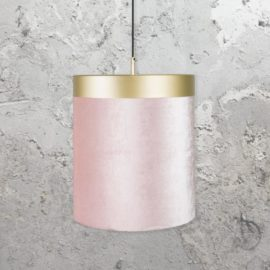 Brass Pink Velvet Pendant Light