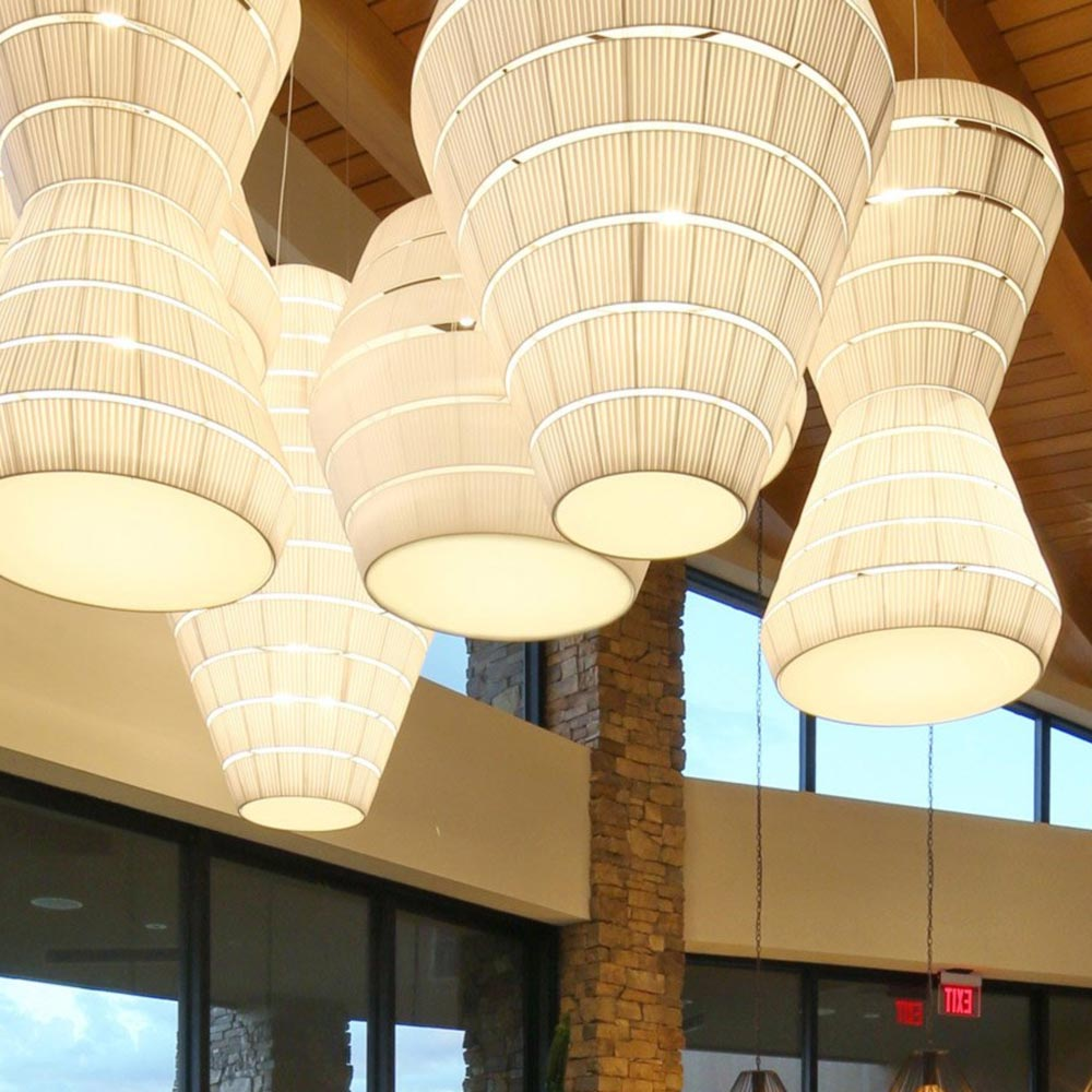 Commercial Led Fabric Pendant Light E2 Contract Lighting