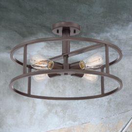 Bronze 4 Light Semi Flush