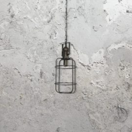 Bronze Cage Industrial Pendant Light