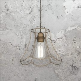Bronze Cage Pendant Light