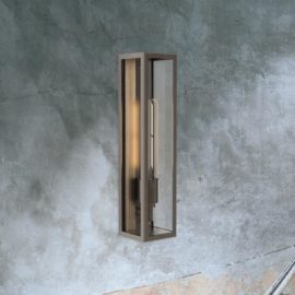 Bronze Elongated Outdoor Wall Light