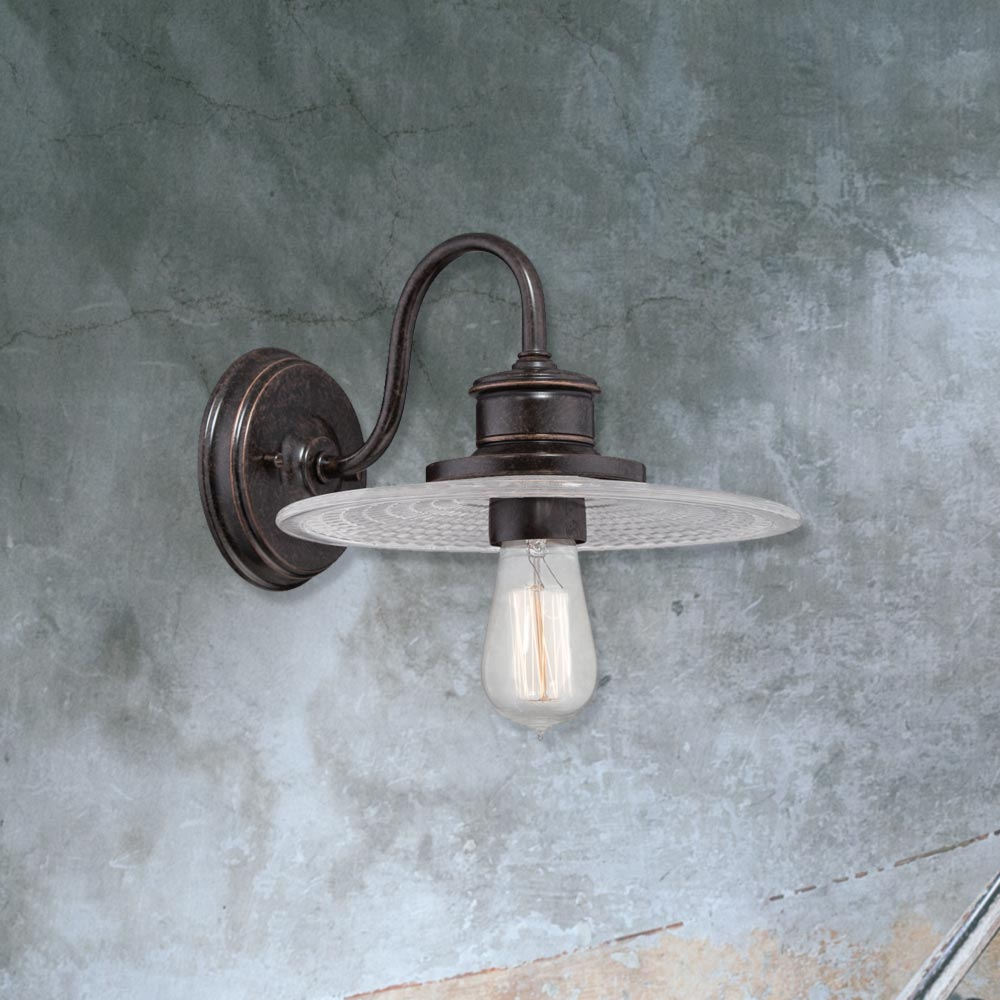 E2 Contract Lighting Products Bronze Industrial Wall Light CL-25813 UK