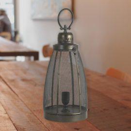 Dark Bronze Mesh Lantern Table Lamp