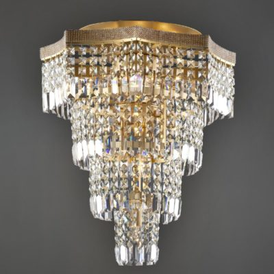 Bronze Moroccan Crystal Flush Light