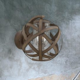 Bronze Outdoor Orb Wall Light