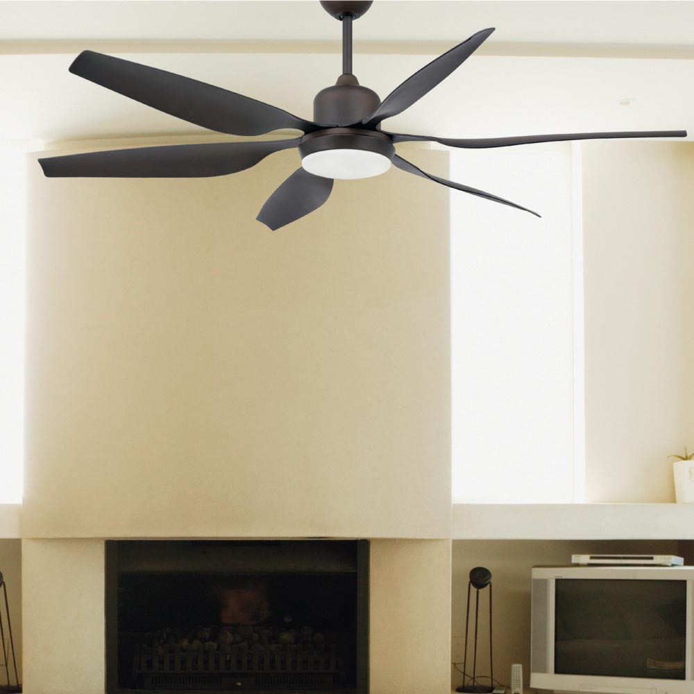 Brown Modern Ceiling Fan With Light Cl 34865 E2 Contract Lighting Uk