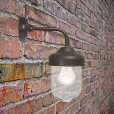 Brown Outdoor Barn Wall Light