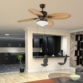 Brown Traditional Ceiling Fan With Lights