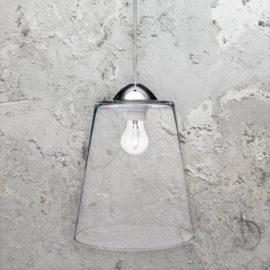 Bucket Clear Glass Pendant Light