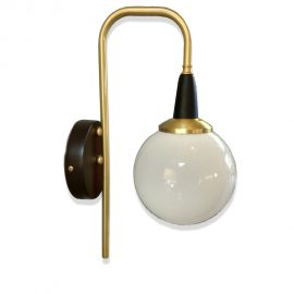 Satin Brass Globe Wall Light