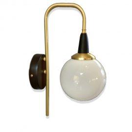 Satin Brass Globe Wall Light