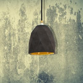 Dark Concrete Polygon Pendant CL-32428