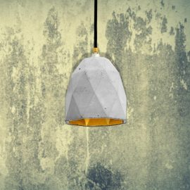 Light Concrete Polygon Pendant CL-32429