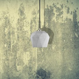 Light Concrete Geometric Pendant