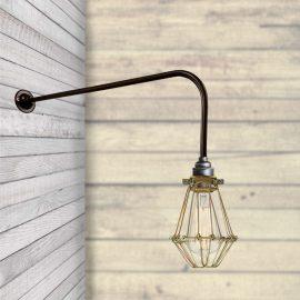 Brooklyn Brass Caged Wall light