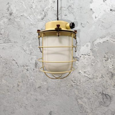 Salvaged Yellow Pendant