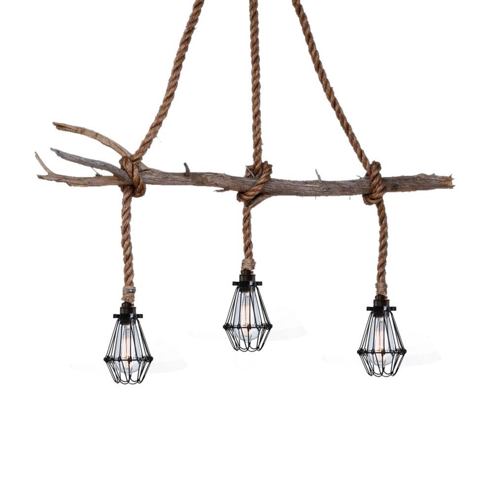 Rope Cluster Pendant Lights