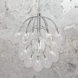 Chrome 15 Light Chandelier