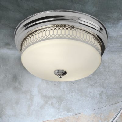 Chrome Bathroom Flush Light