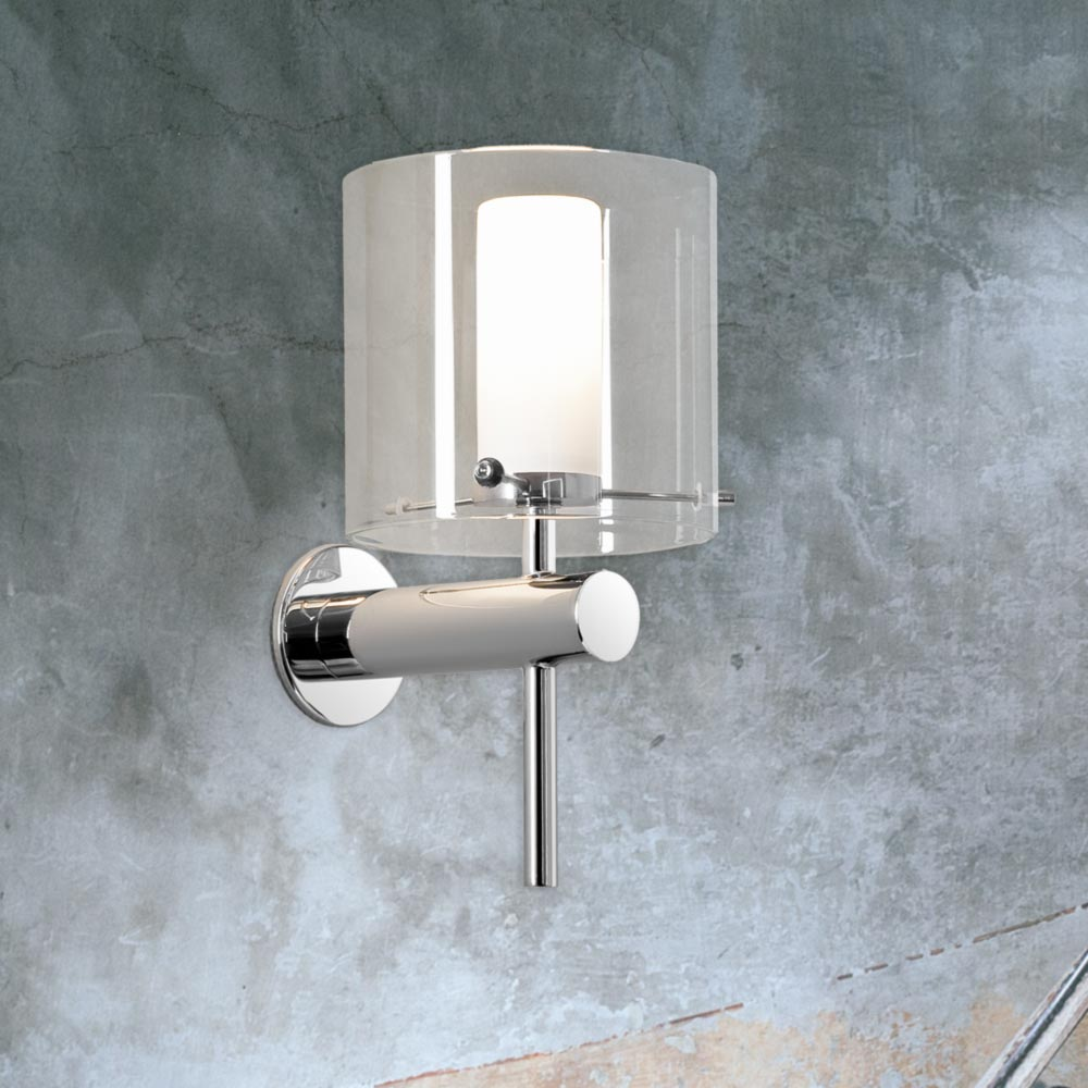 Polished chrome bathroom wall light cl 14689 e2 contract lighting uk chrome bathroom wall light aloadofball Images