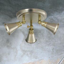 Chrome Brass 3 Light Spotlight Plate
