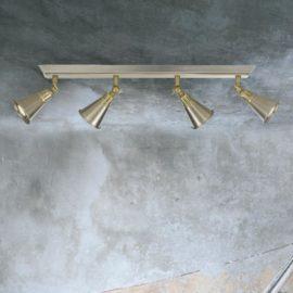Chrome Brass 4 Light Spotlight Bar