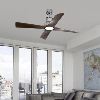 Chrome Coastal Ceiling Fan