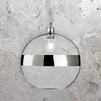 Chrome Glass Ball Pendant Light