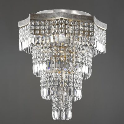Chrome Moroccan Crystal Flush Light