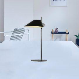 Chrome Table Lamp Black Shade
