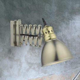 Chrome Vintage Scissor Wall Light