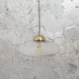 Clear Blown Glass Pendant Light