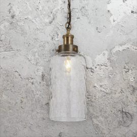 Clear Dimpled Glass Pendant Light