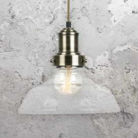 Clear Glass Antique Brass Pendant Light