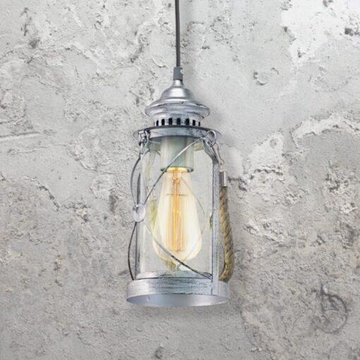 Clear Glass Lantern Pendant Light