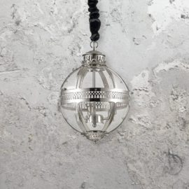 Clear Glass Orb Chandelier