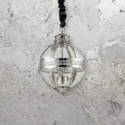 Clear Glass Orb Chandelier